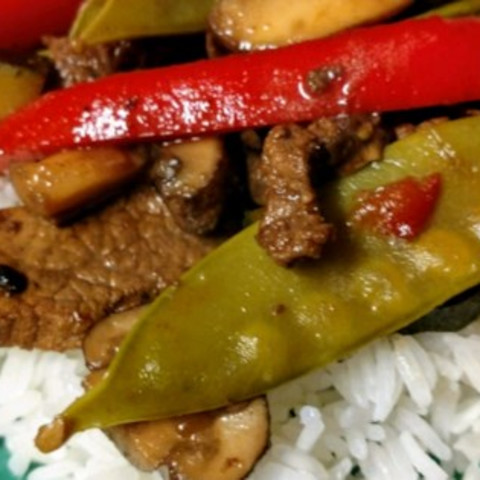 Asian Beef with Snow Peas Recipe