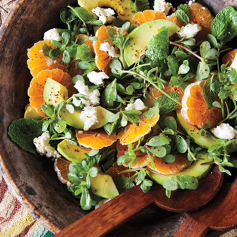 Avocado and Tangerine Salad with Jalapeno Vinaigrette