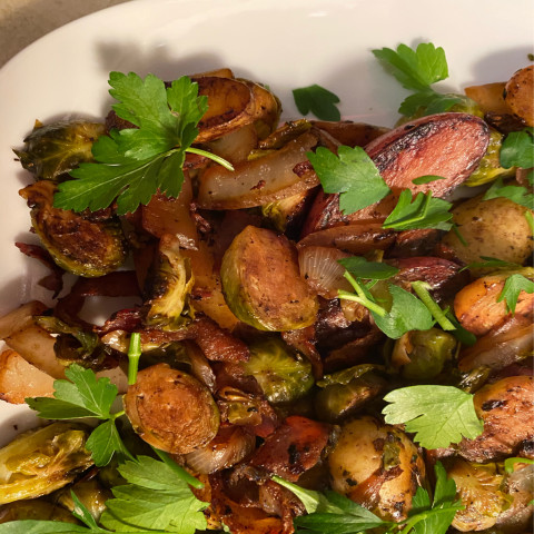 Bacon and Brussels Sprout Hash