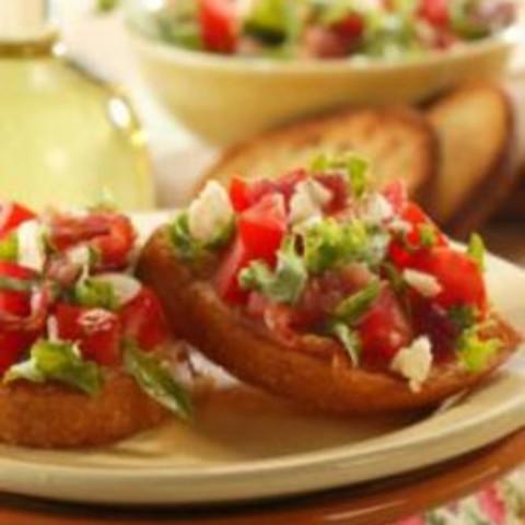 Bacon, Lettuce and Tomato Brushetta