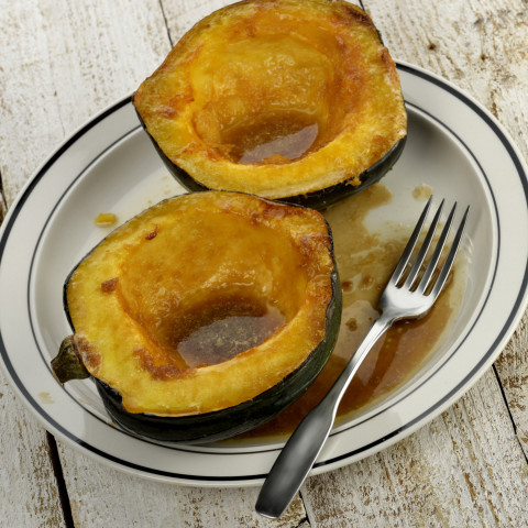 Baked Acorn Squash with Brown Sugar