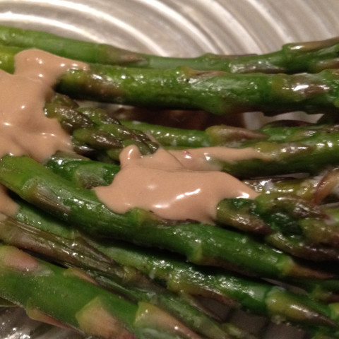 Baked Asparagus with Balsamic Sauce