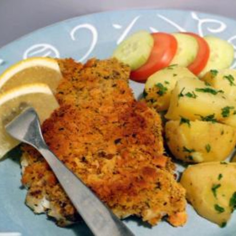 Baked Cod with Crunchy Lemon Herb Topping