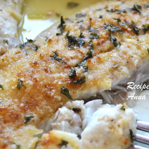 Baked Flounder Filet Oreganata