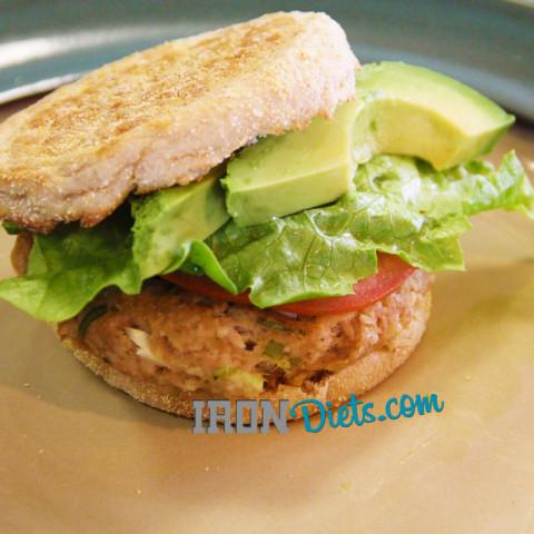 Baked Zesty Garlic Tuna Burger