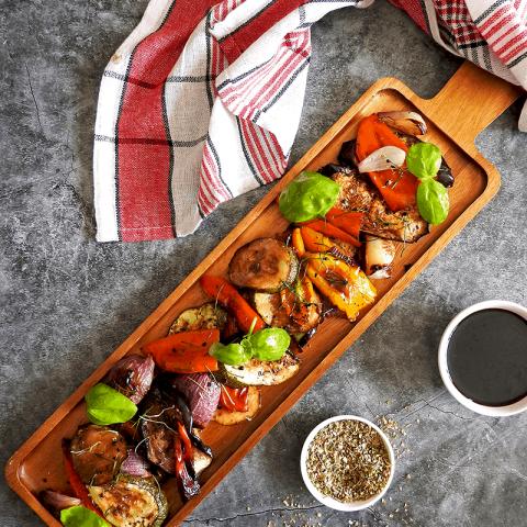 Balsamic Mediterranean Roasted Vegetables Recipe