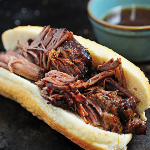 Balsamic Roast Beef French Dip Sandwich