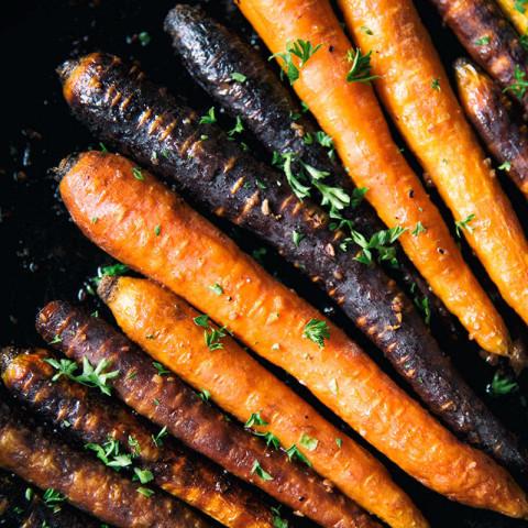 Balsamic Roasted Carrots Recipe