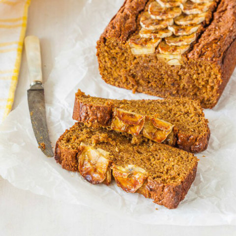 Banana and Avocado Bread - refined sugar free, butter and oil free