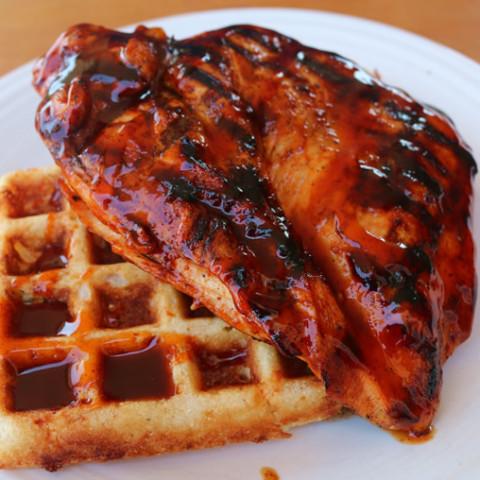 BBQ Chicken & Waffles