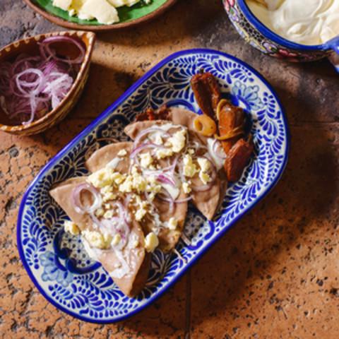 Bean-Dipped Tortillas (Enfrijoladas)