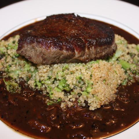 Beef- Porcini Shallot Sauce