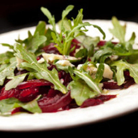 Beet and Goat Cheese Arugula Salad