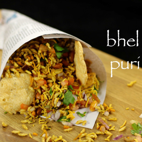 bhel puri recipe   mumbai bhelpuri recipe   bhel poori - street food of ind