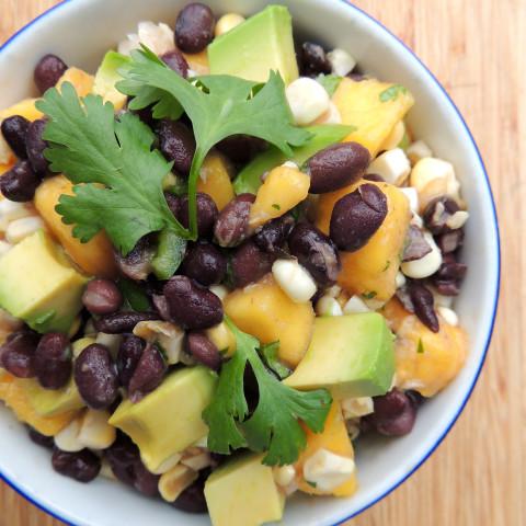 Black Bean, Mango & Corn Salad