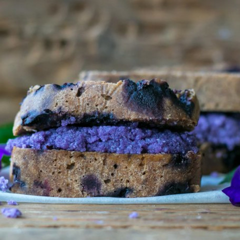 BLUEBERRY BANANA BREAD WITH BLUEBERRY COCONUT BUTTER