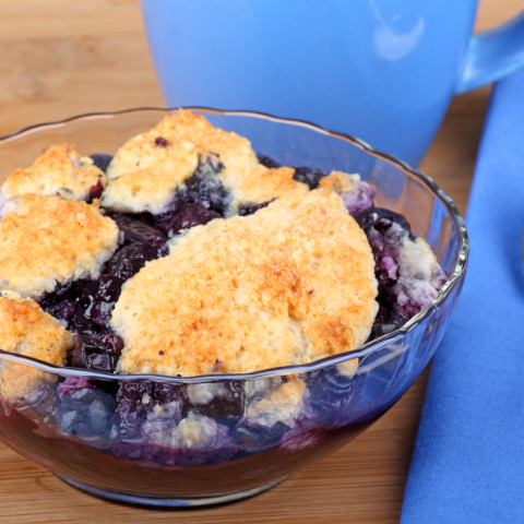 Blueberry Cobbler for Dutch Oven