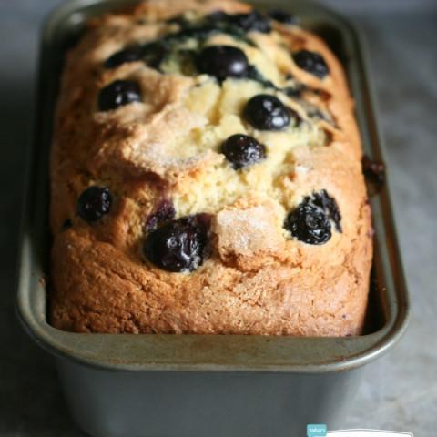 Blueberry Lemon Bread with Lemon Glaze Recipe