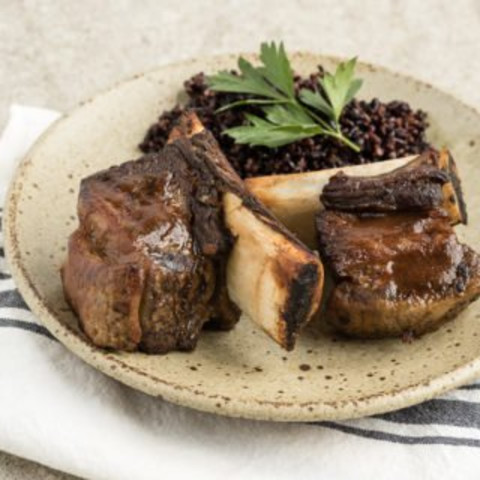 Bone Broth-Braised Short Ribs Recipe with Garlic and Thyme