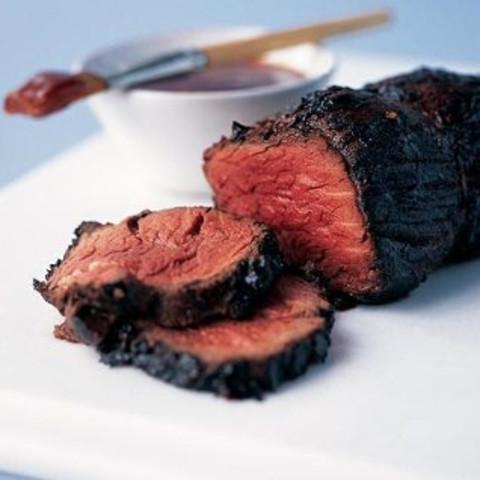 Bourbon-glazed Beef