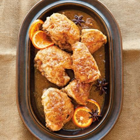 Braised Chicken with Tangerine and Star Anise