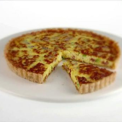 Breakfast Tart with Pancetta and Green Onions