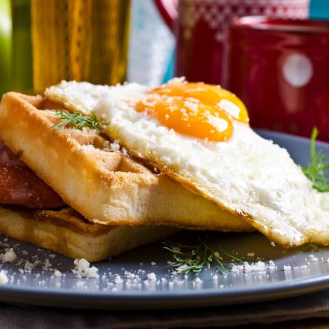 Breakfast Waffle Sandwich