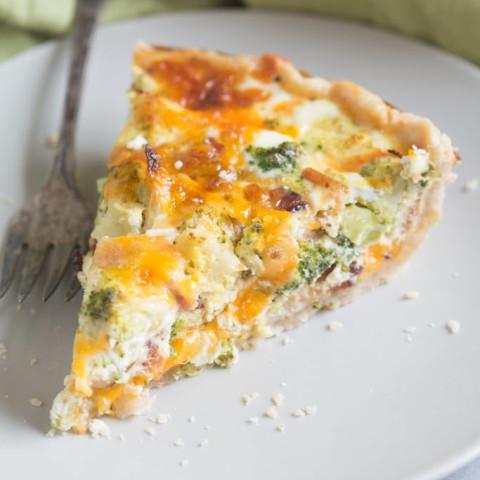 Broccoli Cheese Quiche