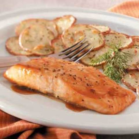 Brown Sugar-Glazed Salmon Recipe