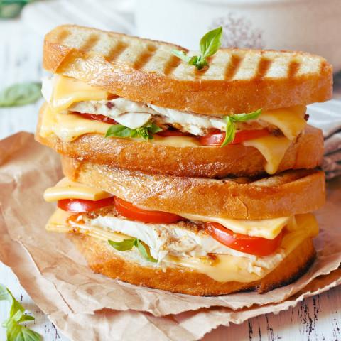 Bruschetta-style Grilled Cheese Sandwich