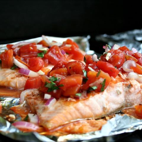 Bruschetta Grilled Salmon