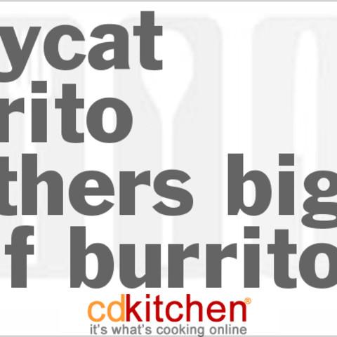Burrito Brothers Big-Beef Burrito