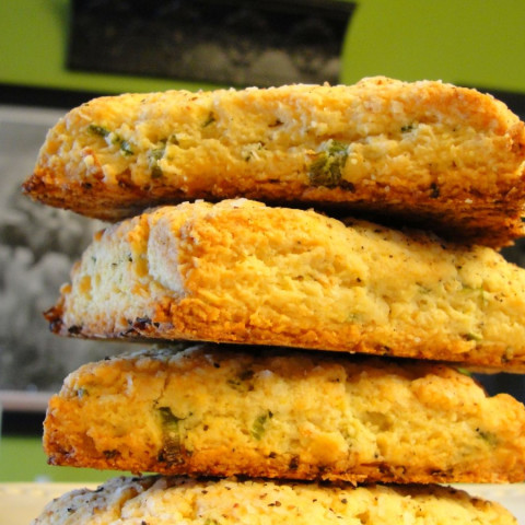 Buttermilk Biscuits with Green Onion and Pepper (5)