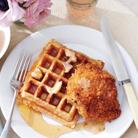 Buttermilk Oat Waffles