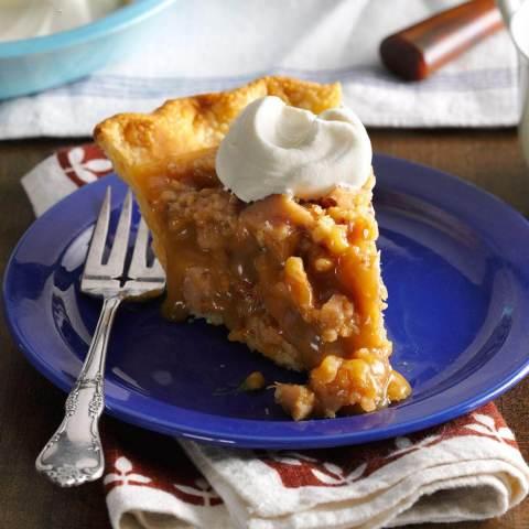 Butterscotch Pie with Walnut-Bacon Toffee