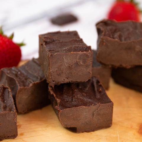 Buttery Chocolate Keto Fudge Squares