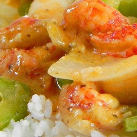 Cajun Crawfish and Shrimp Etouffe