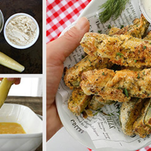 Cajun Oven-Baked Pickles