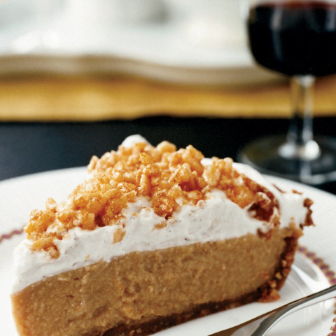 Caramel Cream Pie with Crispy Rice Topping