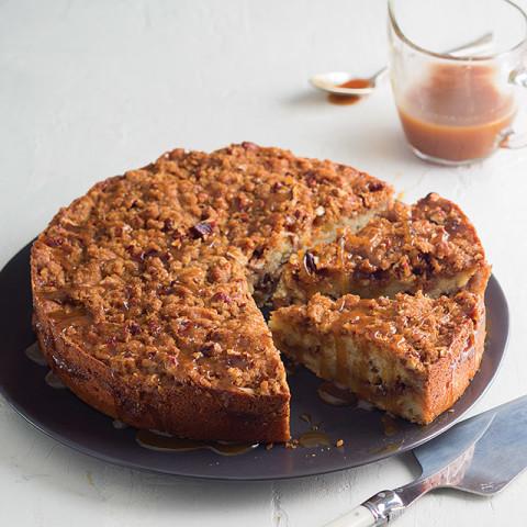 Caramel Pecan Banana Coffee Cake