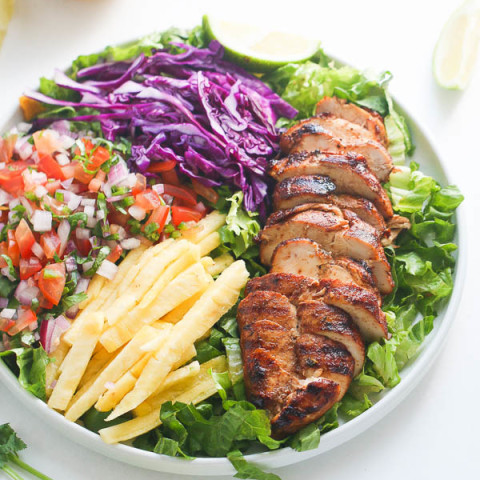 Caribbean Grilled Chicken Salad