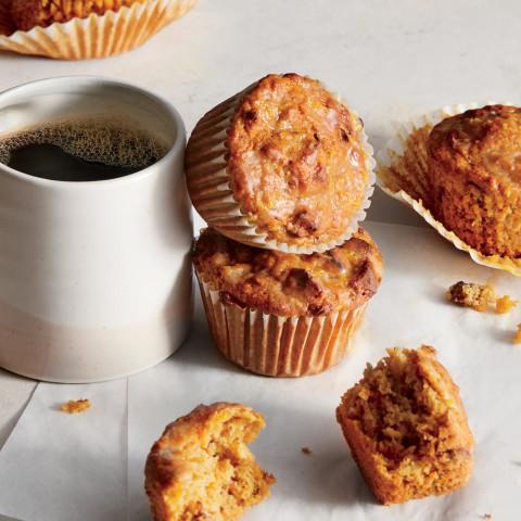 Carrot-Apple Muffins With Orange Glaze