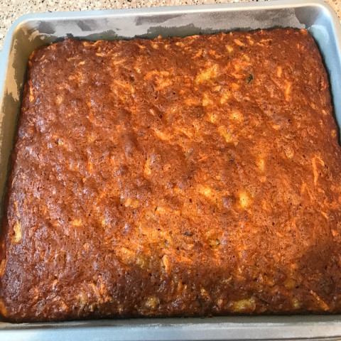 Carrot Cake With Pineapple Raisins And Nuts