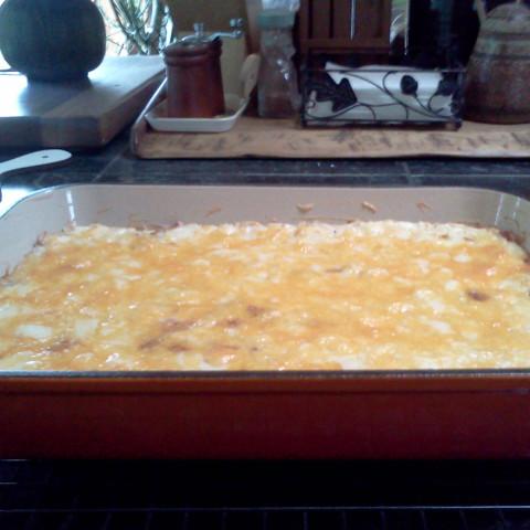Cheesy Meaty Hash Brown Casserole