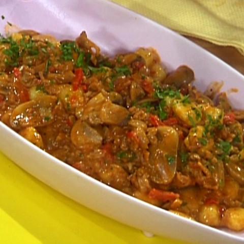 Chicken and Mushroom Goulash with Gnocchi