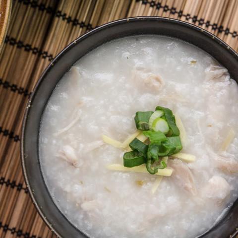 Chicken Congee (Rice Porridge or Jook) in Pressure Cooker