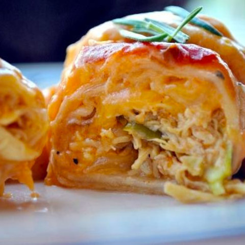 Chicken Enchiladas Suiza Enchiladas With Sour Cream Cheese Sauce