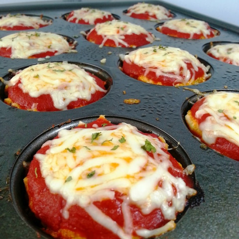"Chicken Parmesan Meatloaf ""Muffins"""