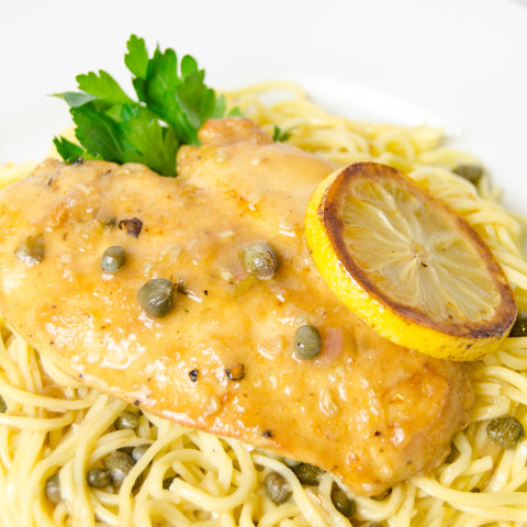 Chicken Piccata With Lemon Capers And Artichoke Hearts