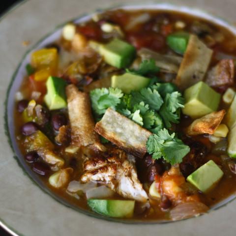 Chicken Tortilla Soup (8 Points)